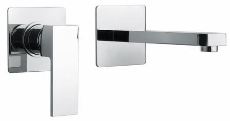 12208-120 Single Lever Handle Two Hole Wall Mount Lavatory Faucet With Linear Matched Spout  Polished Gold