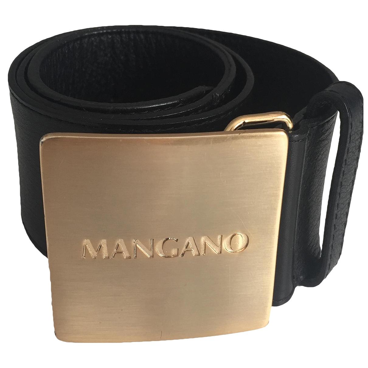 Mangano \N Guertel in  Schwarz Leder