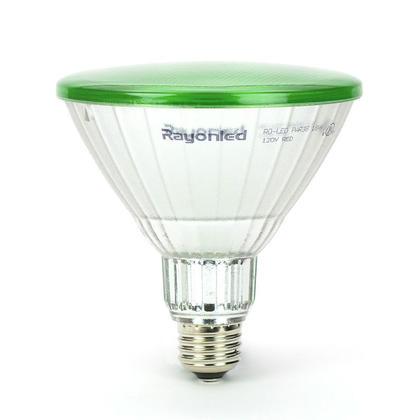 Ampoule DEL PAR38 15W équivalent 110W E26 non-dimmable 3000K 38º de diffusion intér/extér - Vert