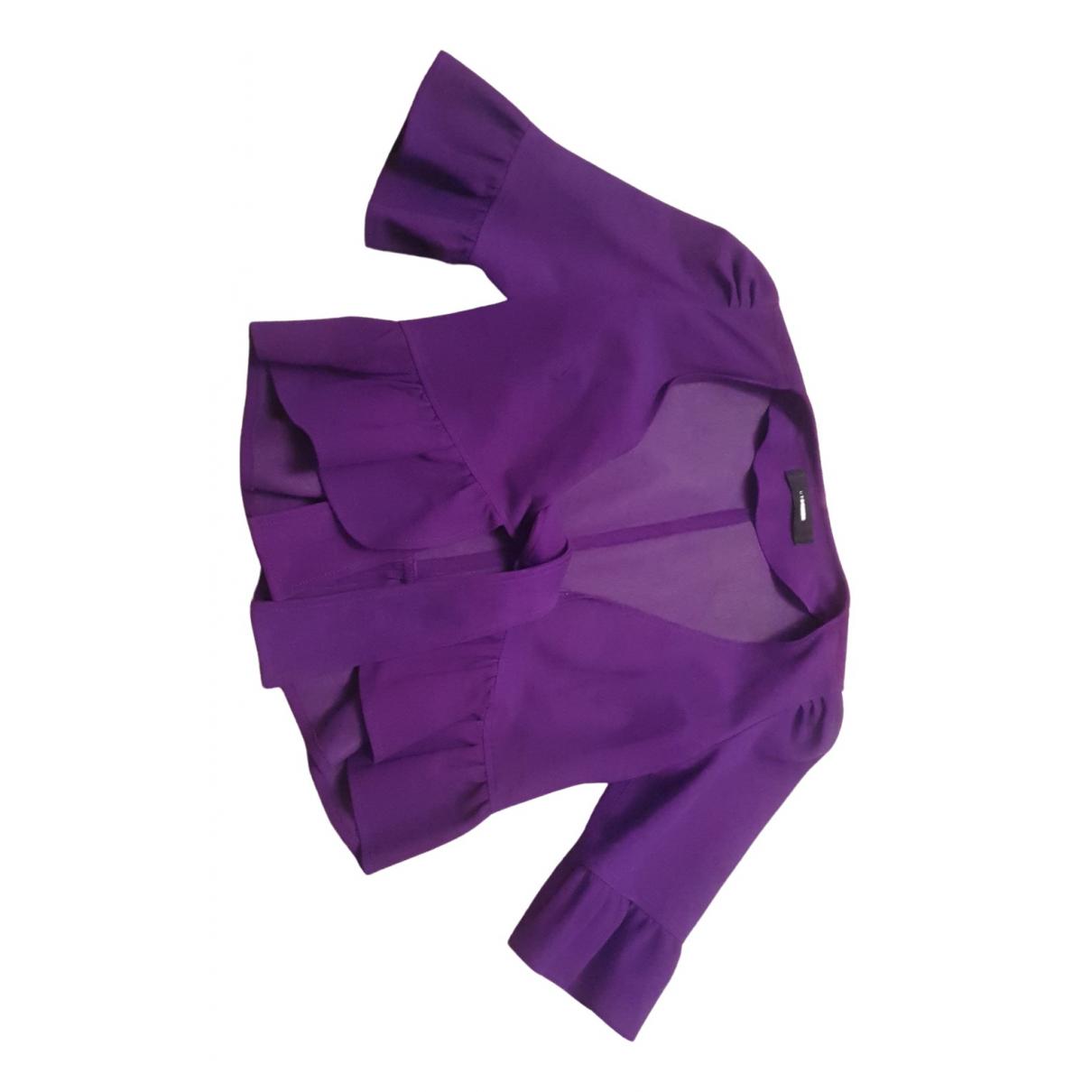 Uterque - Veste   pour femme en cuir - violet