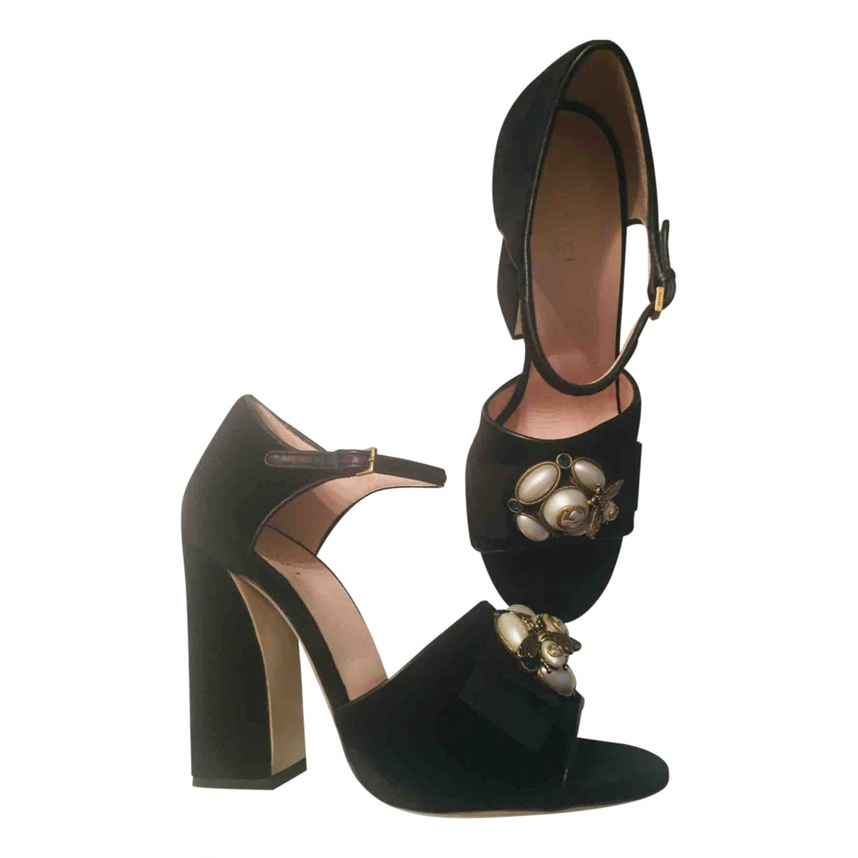 Gucci - Sandales   pour femme en velours - noir