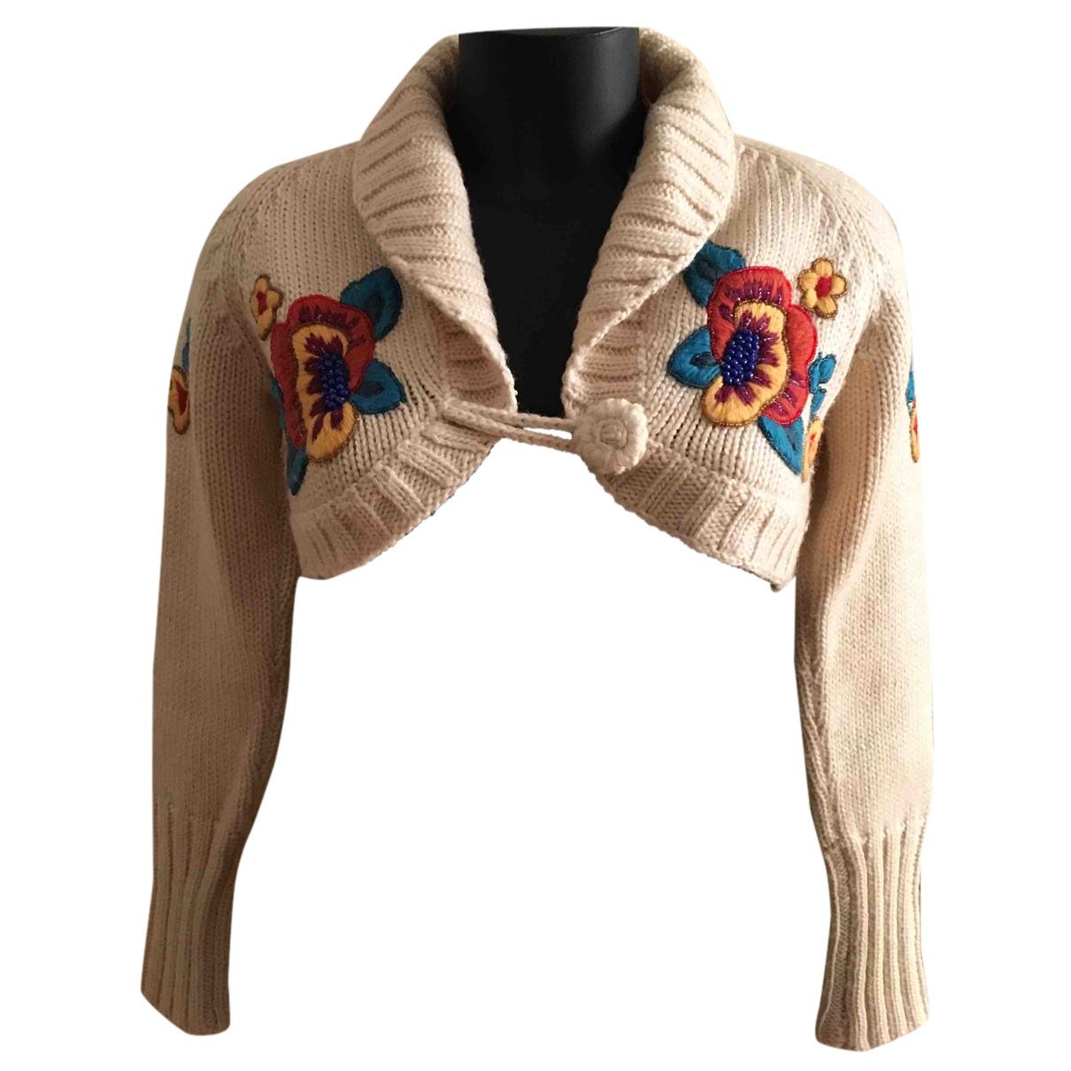 - Pull Crochet pour femme en laine - multicolore