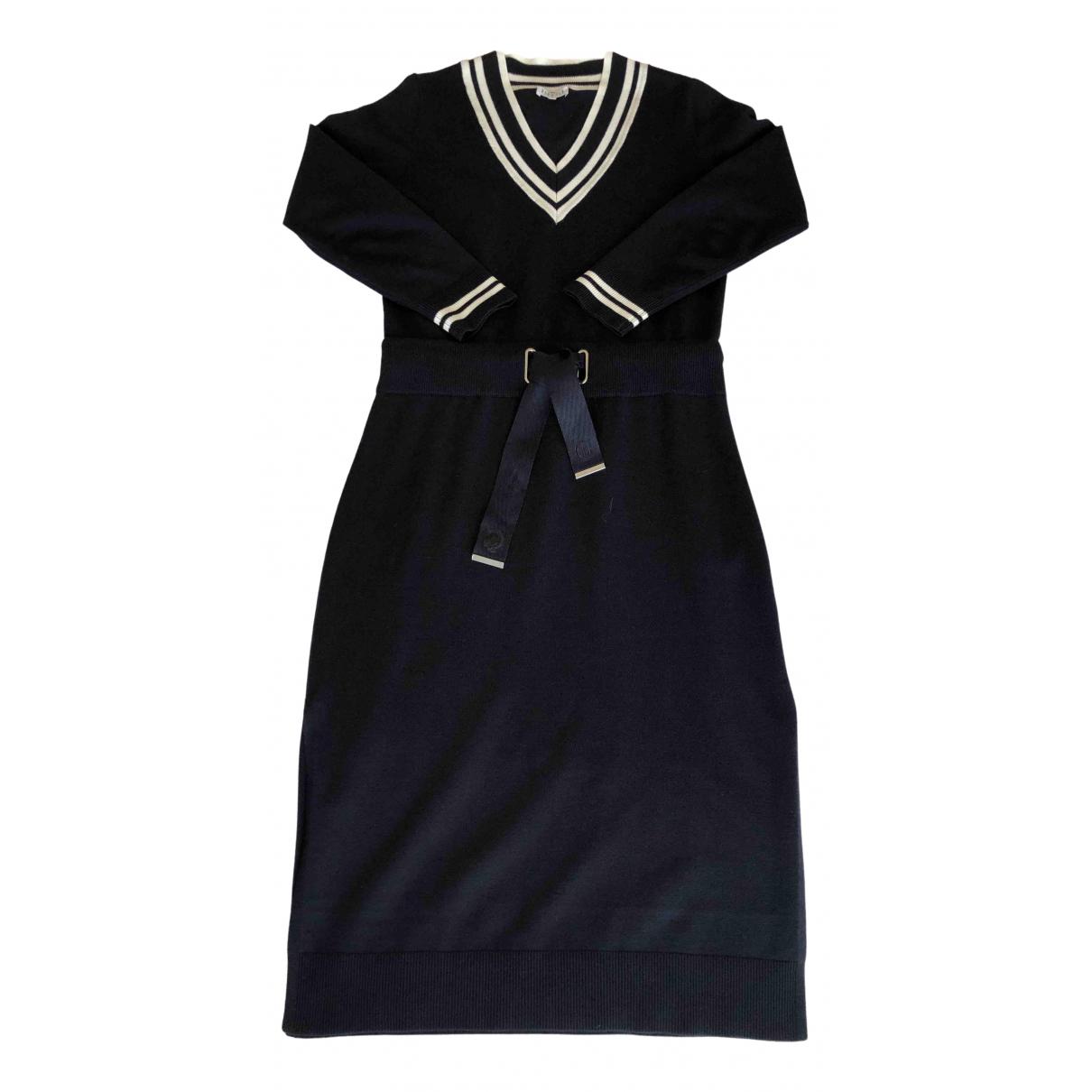 Claudie Pierlot \N Kleid in  Marine Viskose