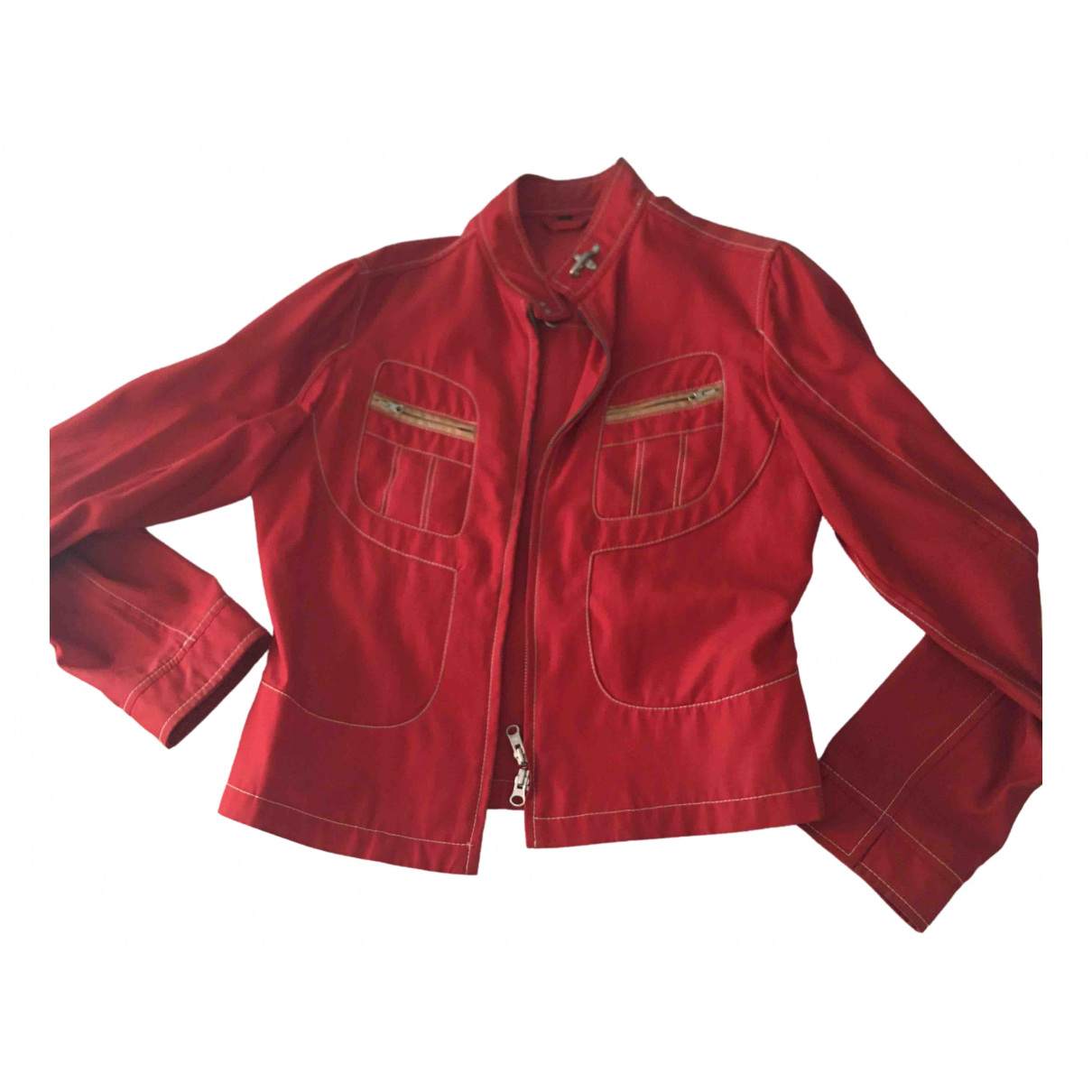 Fay - Veste   pour femme en coton - rouge
