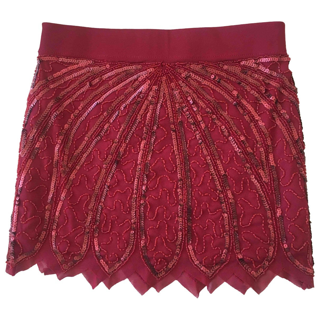 Non Signé / Unsigned \N Burgundy skirt for Women S International