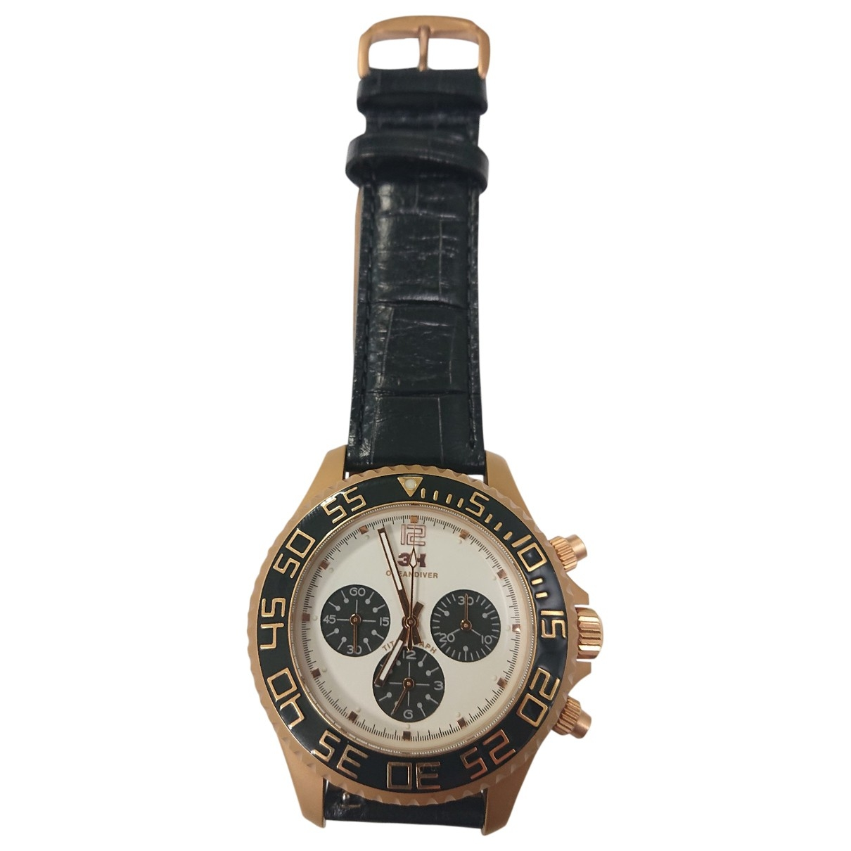 Non Signé / Unsigned \N Steel watch for Men \N