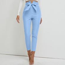 Reissverschluss  Einfarbig Elegant Hosen