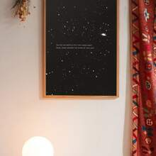 Sternenhimmel & Slogan Wand Kunstdruck ohne Rahmen
