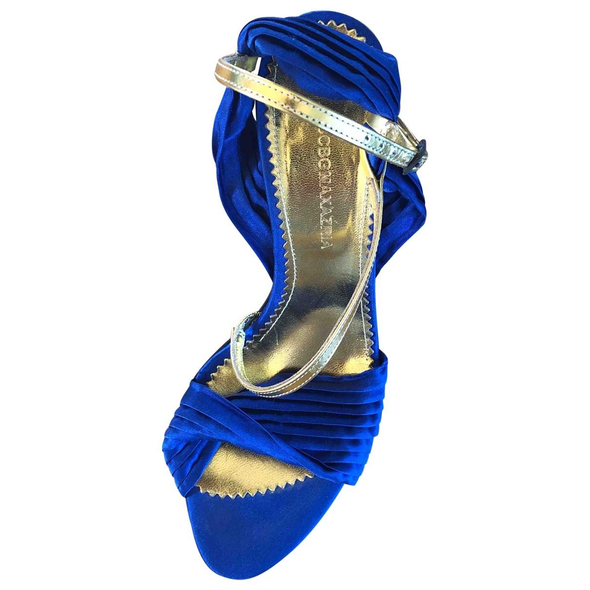 Bcbg Max Azria - Escarpins   pour femme en cuir - bleu