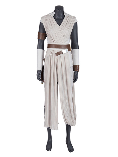 Milanoo Star Wars Cosplay The Rise Of Skywalker Film Rey Cosplay Outfit Chiffon Cosplay Costumes