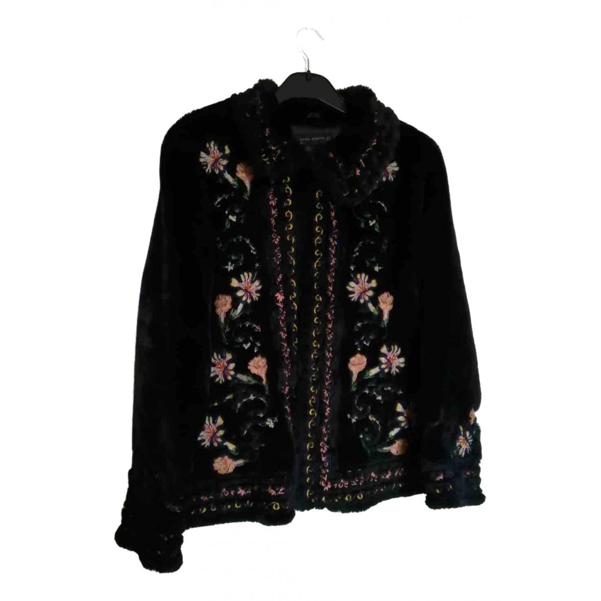 Zara \N Navy coat for Women M International