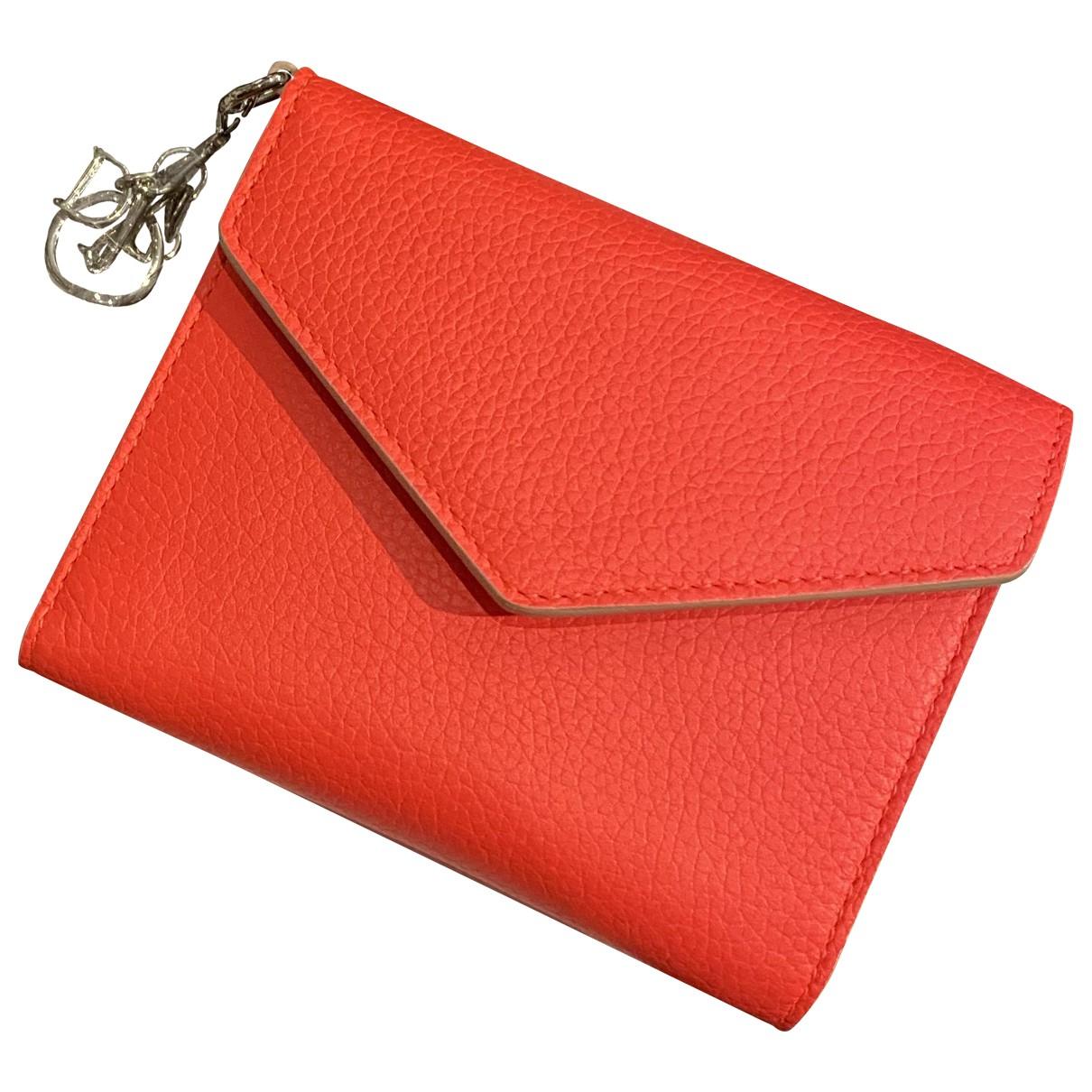 Dior - Portefeuille Lady Dior pour femme en cuir - rose