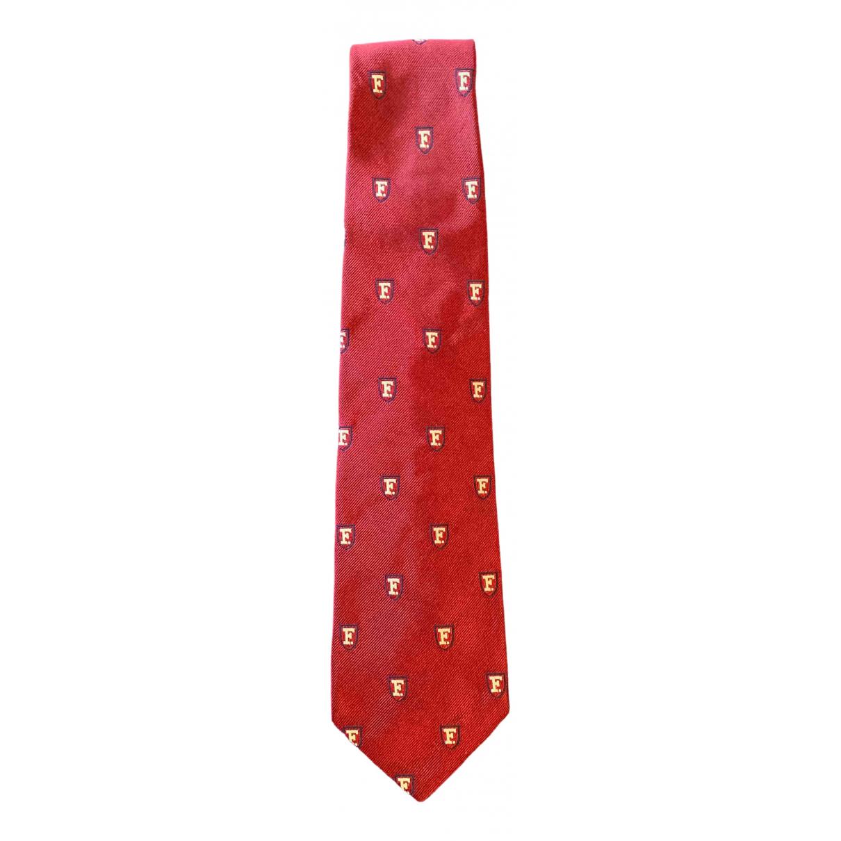 Faconnable \N Krawatten in  Bordeauxrot Seide