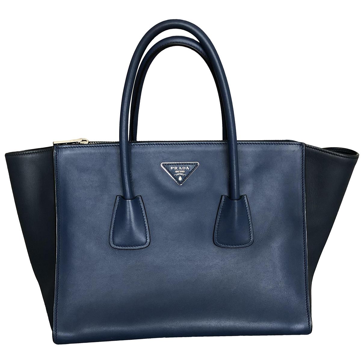 Prada N Blue Leather handbag for Women N