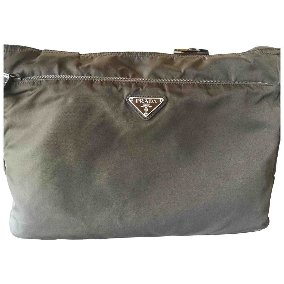 Prada \N Handtasche in  Braun Polyester