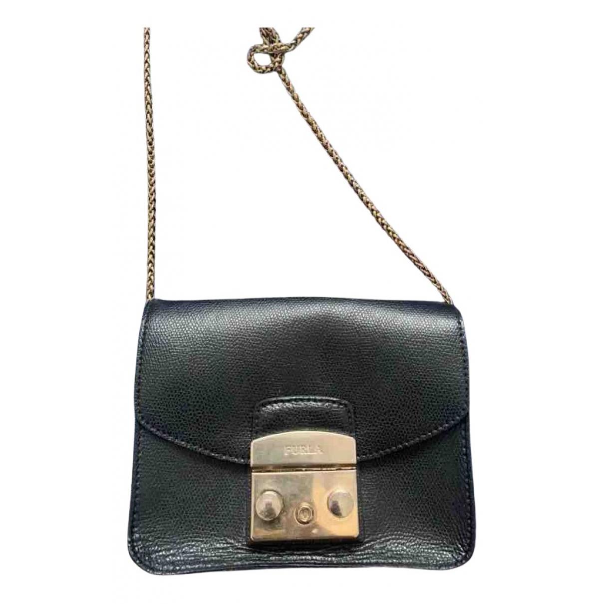 Furla Metropolis Handtasche in  Schwarz Leder