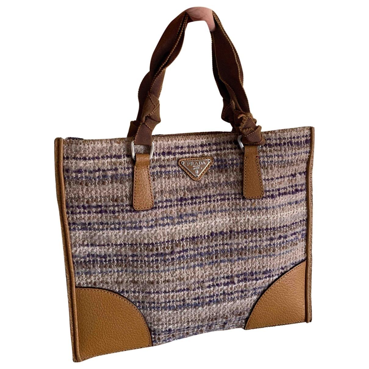 Prada \N Beige Wool handbag for Women \N