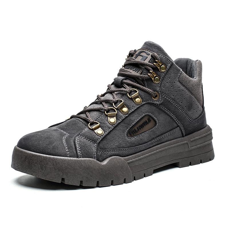 Ericdress Mid-Cut Upper Lace-Up Platform Men's Sneakers