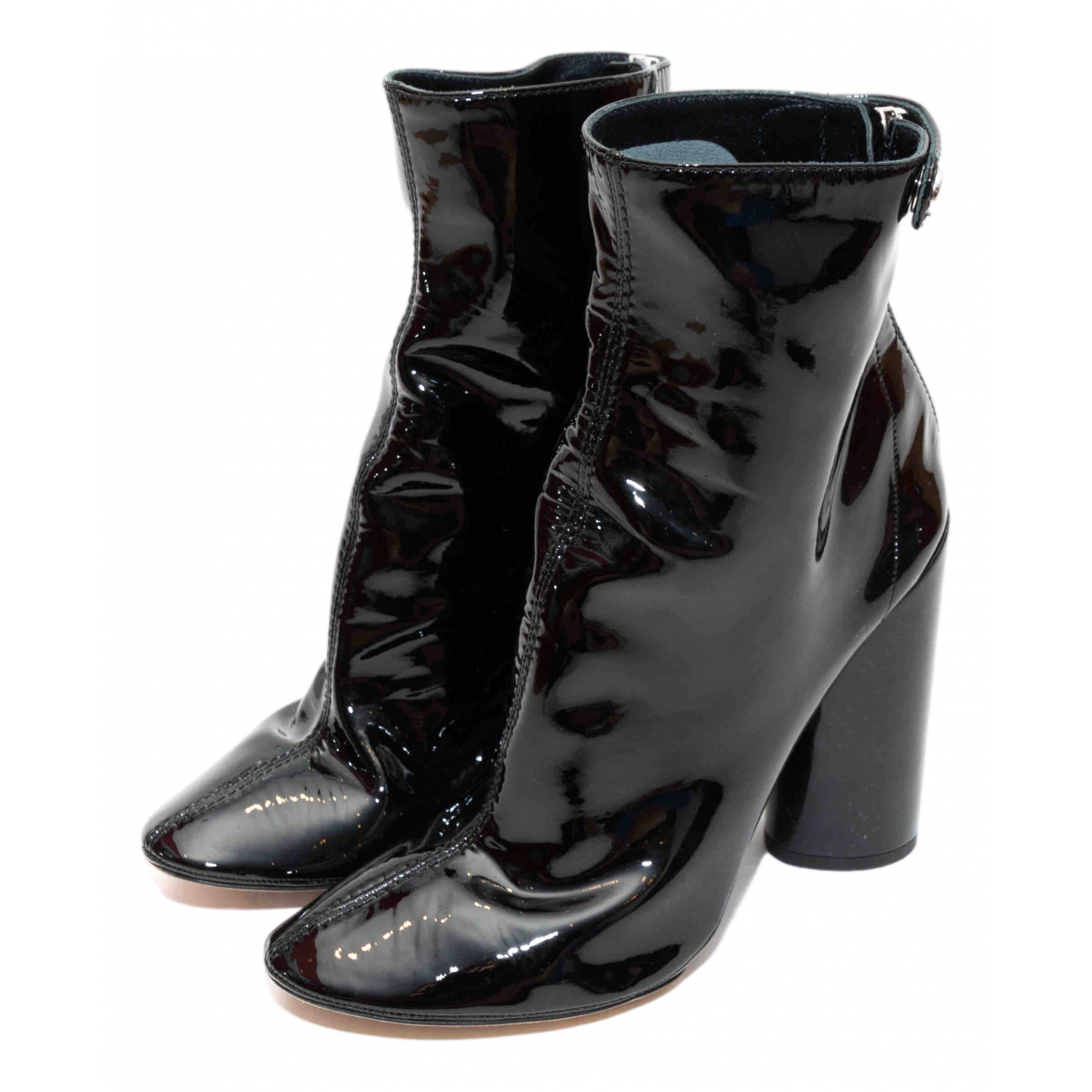 Dior \N Black Patent leather Ankle boots for Women 39 EU