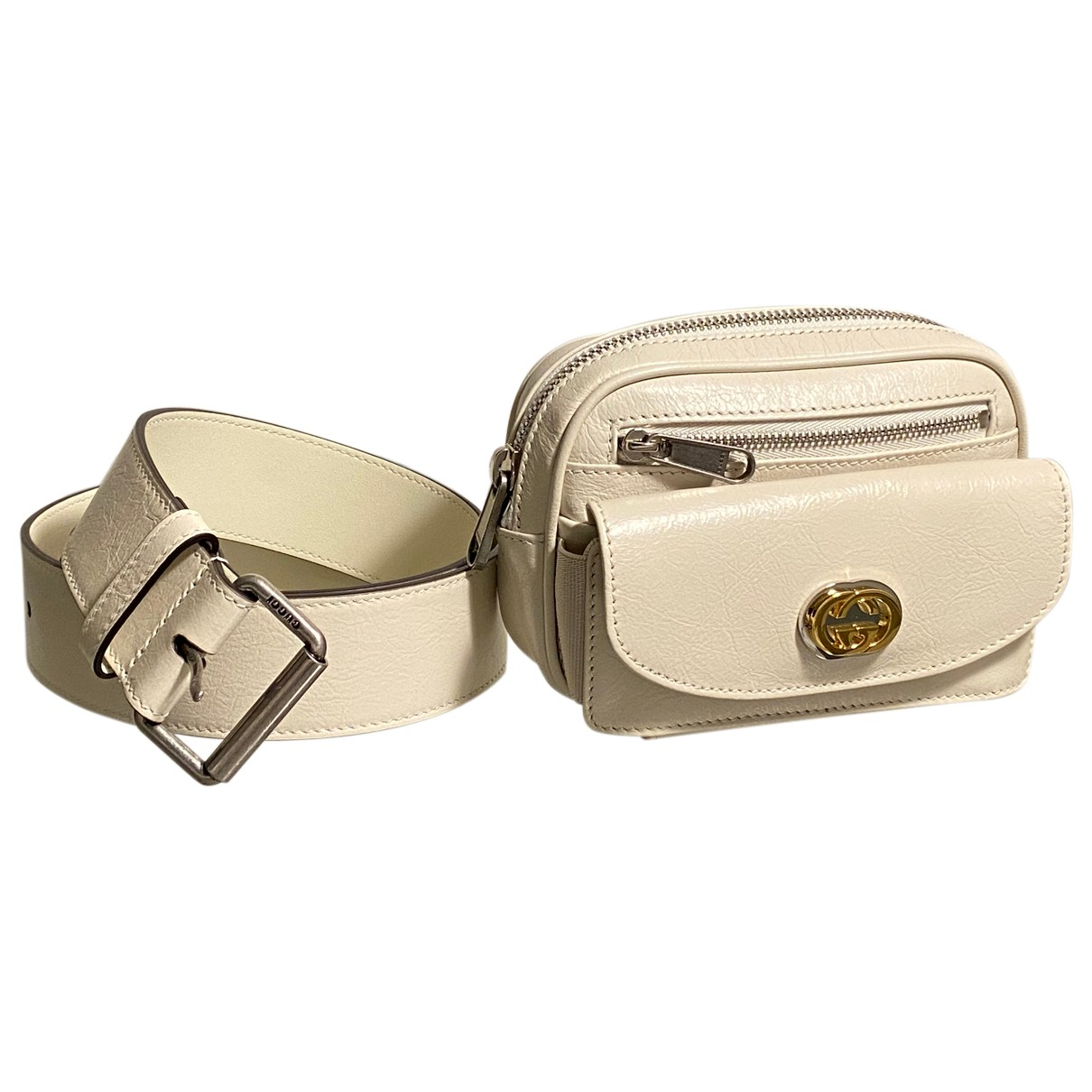 Gucci N White Leather Small bag, wallet & cases for Men N