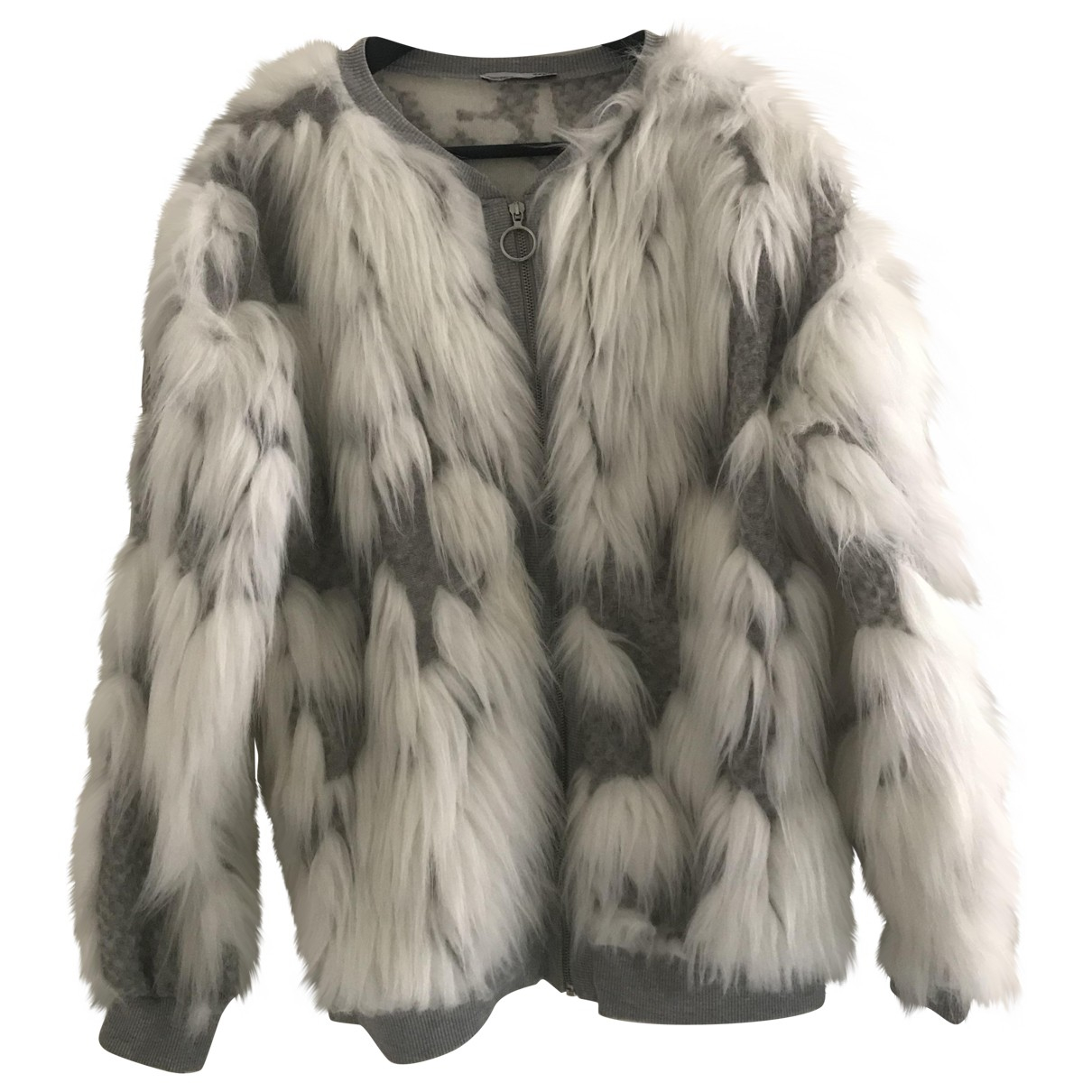 Zara - Veste   pour femme en coton - blanc