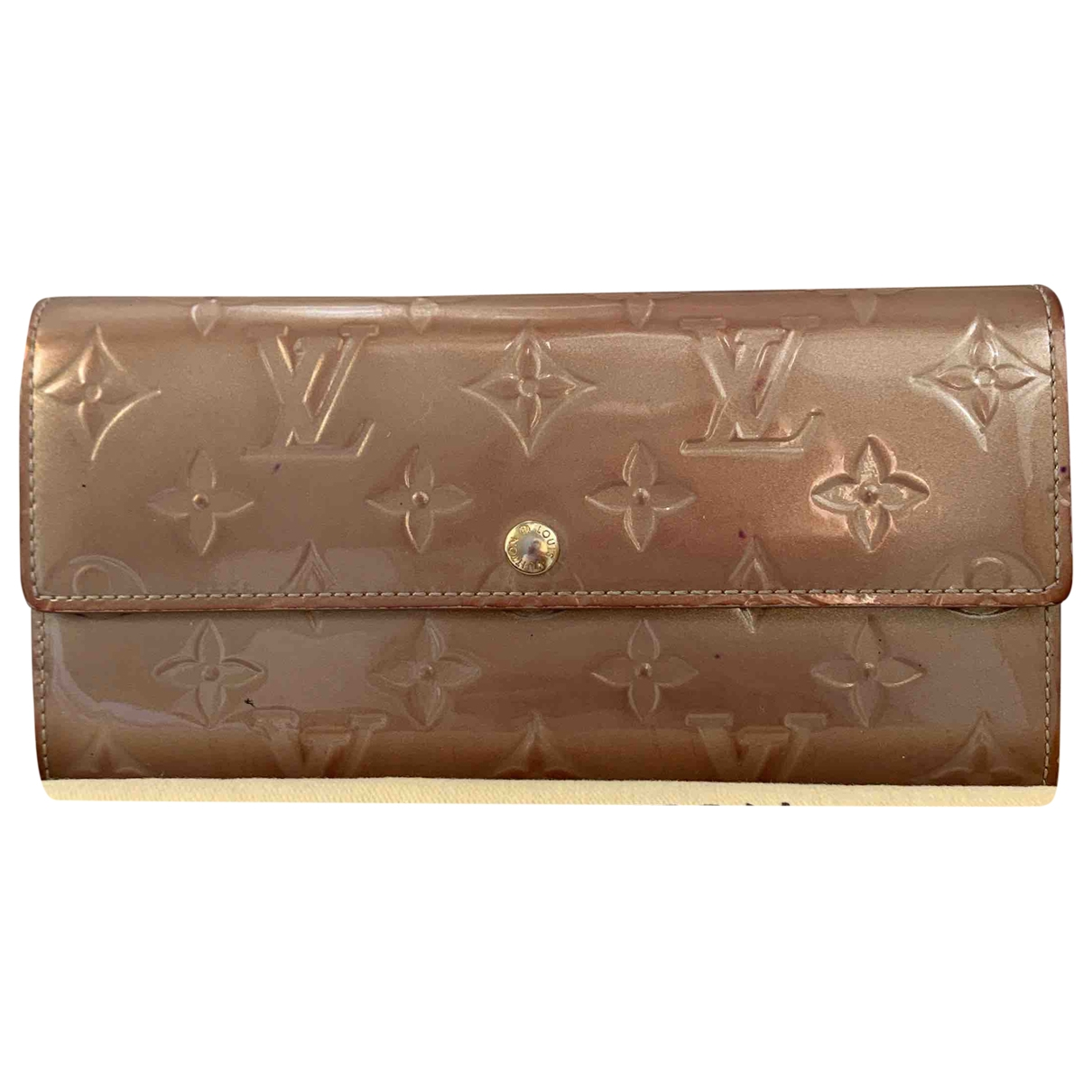 Louis Vuitton Sarah Beige Patent leather wallet for Women \N
