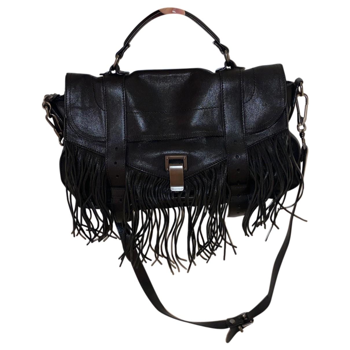 Proenza Schouler PS1 Black Leather handbag for Women N