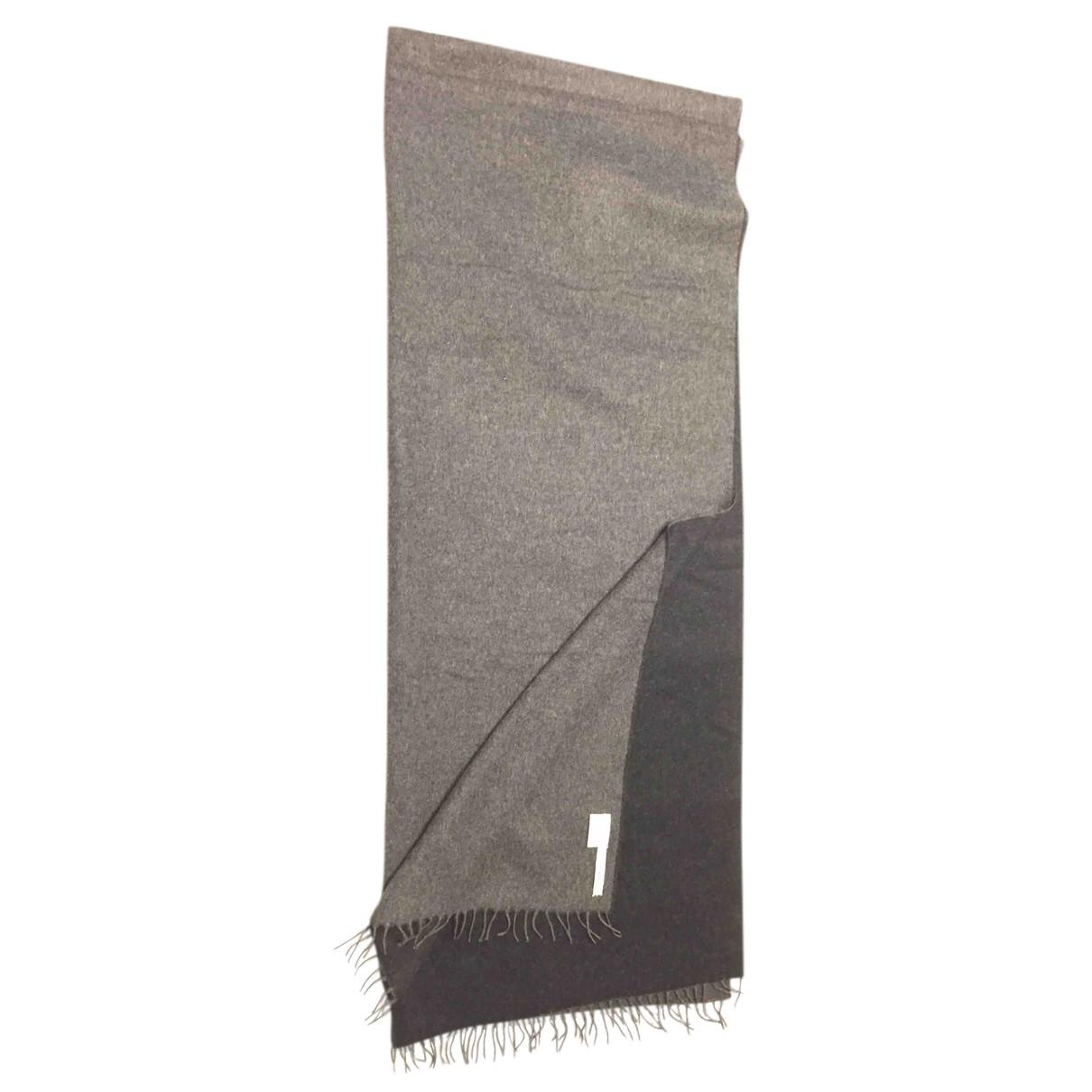 Hermes - Foulard   pour femme en cachemire - gris