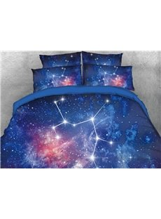 Vivilinen Galaxy Sagittarius Printed 4-Piece 3D Bedding Sets/Duvet Covers