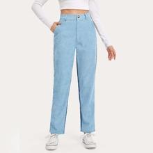 Two Tone Corduroy Pants