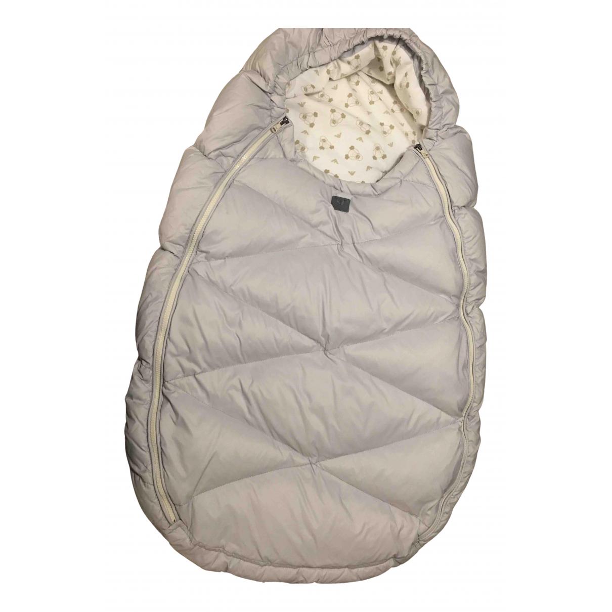 Armani Baby \N Jacke, Maentel in  Grau Polyester