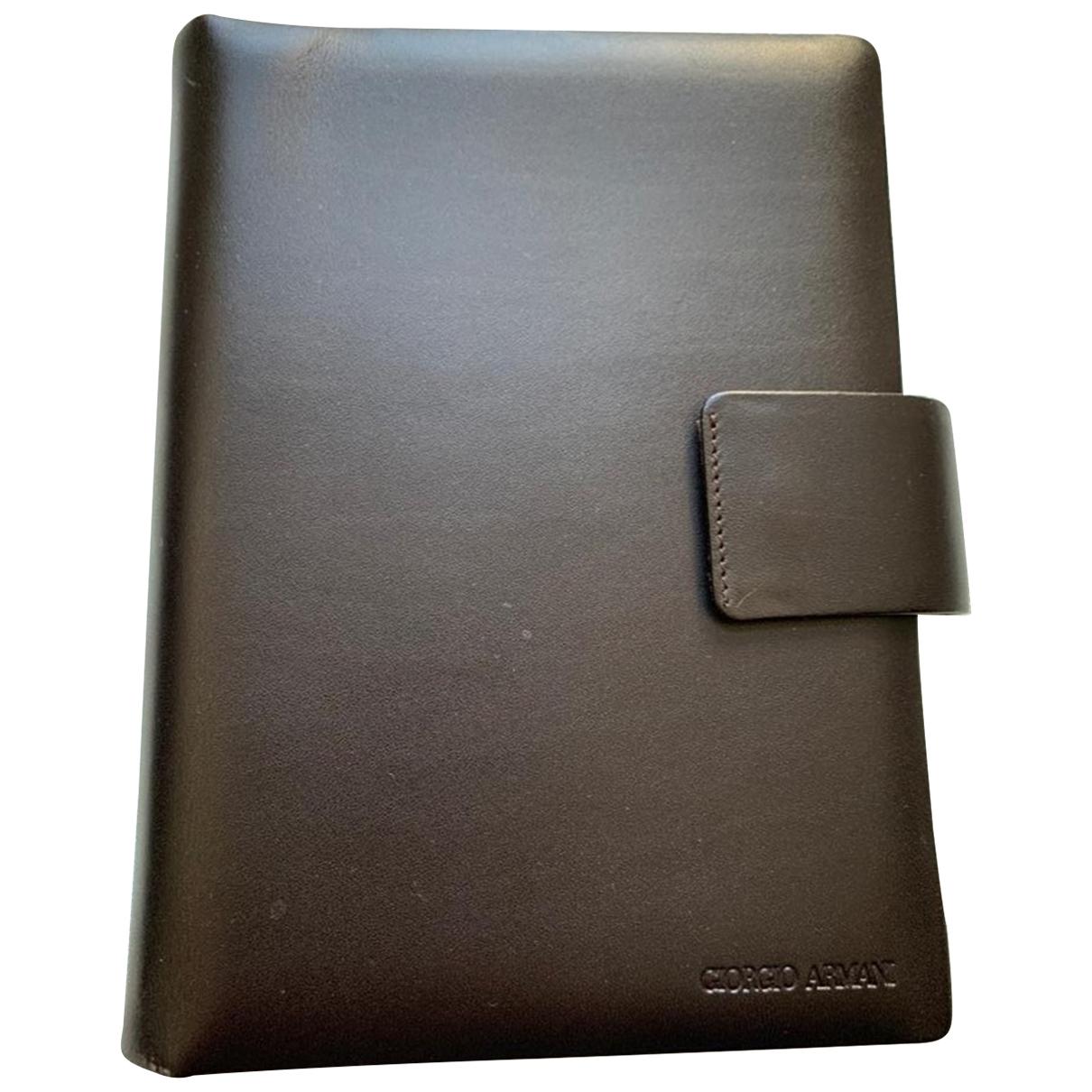 Giorgio Armani - Objets & Deco   pour lifestyle en cuir - marron
