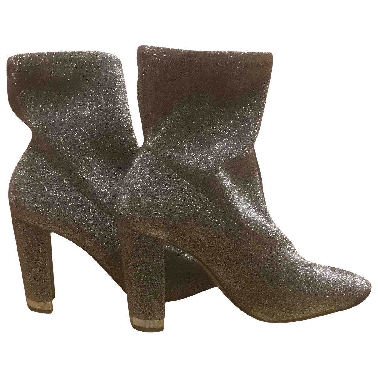 Michael Kors \N Grey Cloth Ankle boots for Women 37 EU