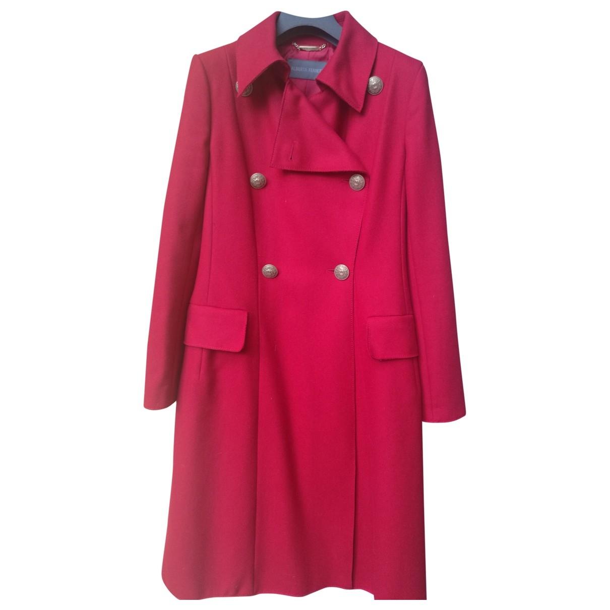 Alberta Ferretti \N Red Wool coat for Women 40 IT