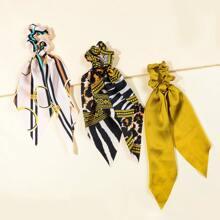 3 Stuecke Scrunchie Schal mit Streifen Muster