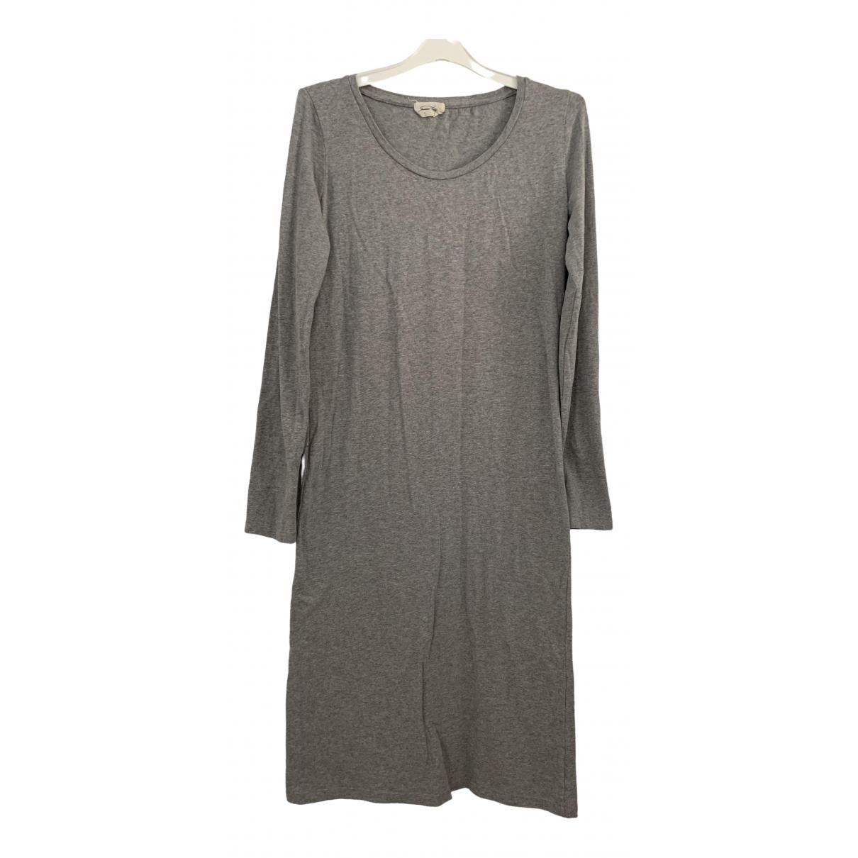American Vintage \N Kleid in  Grau Baumwolle - Elasthan