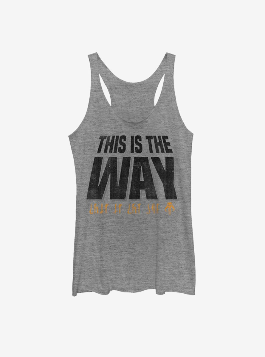Star Wars The Mandalorian This Is The Way Text Climb Womens Tank Top