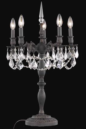 9205TL18DB/EC 9205 Rosalia Collection Table Lamp D18in H28in Lt: 5 Dark Bronze Finish (Elegant Cut