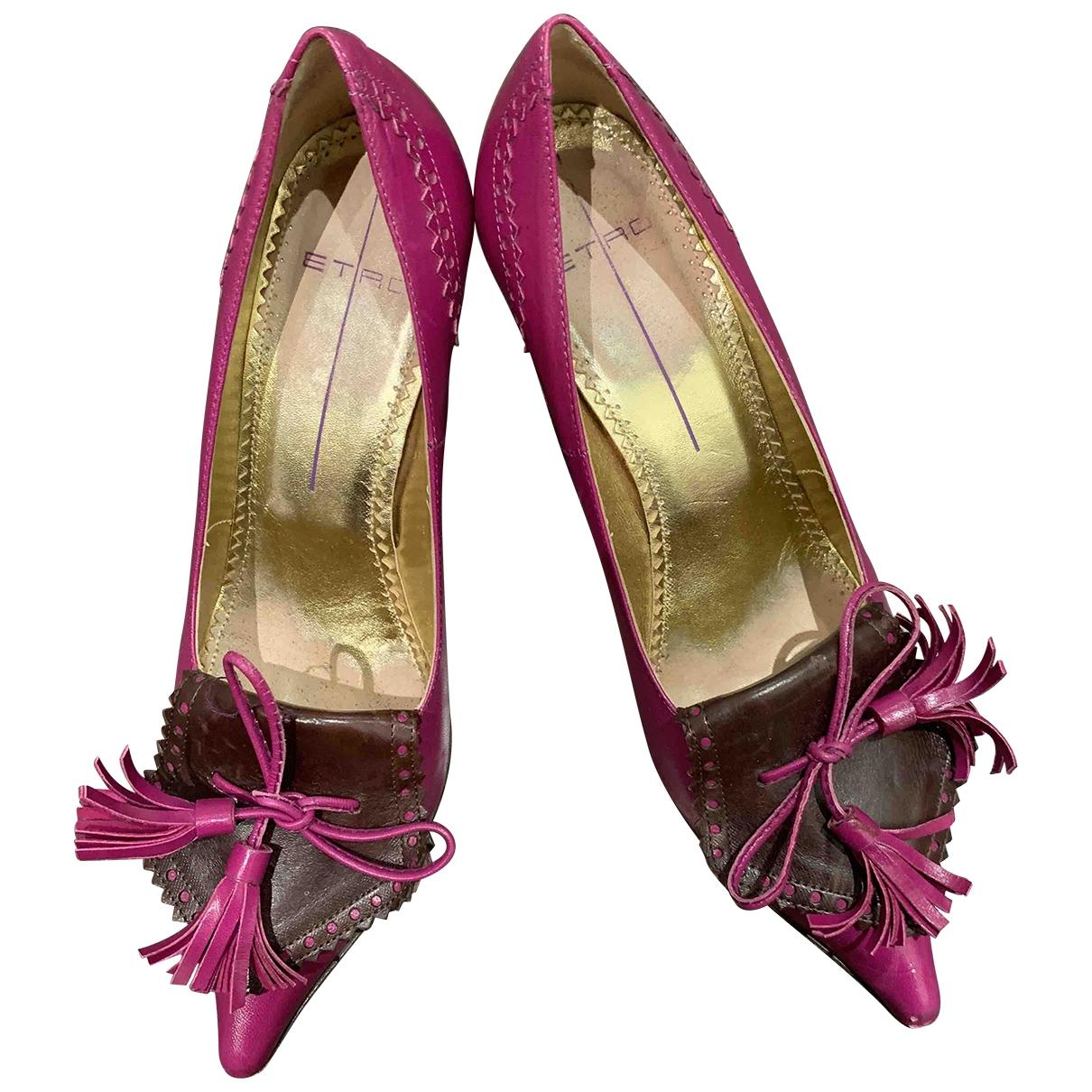 Etro - Escarpins   pour femme en cuir - multicolore