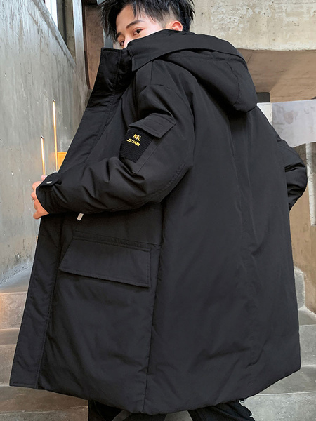 Milanoo Prendas de abrigo de invierno para hombre Parka Slim Fit Down