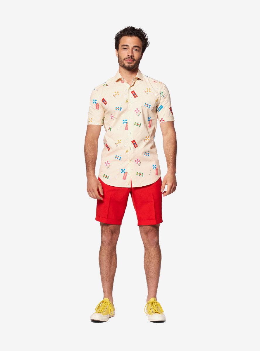 Opposuits Men's Beach Life Sand Summer Shirt