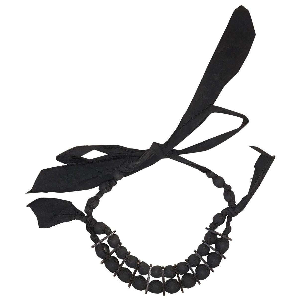 Lanvin \N Black Cloth necklace for Women \N