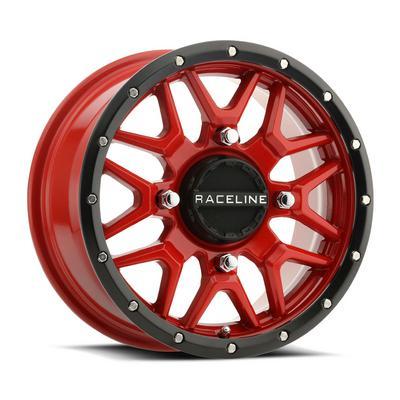 Raceline A94R Krank UTV Wheel, 14x7 with 4 on 156 Bolt Pattern - Red - A94R-4705610