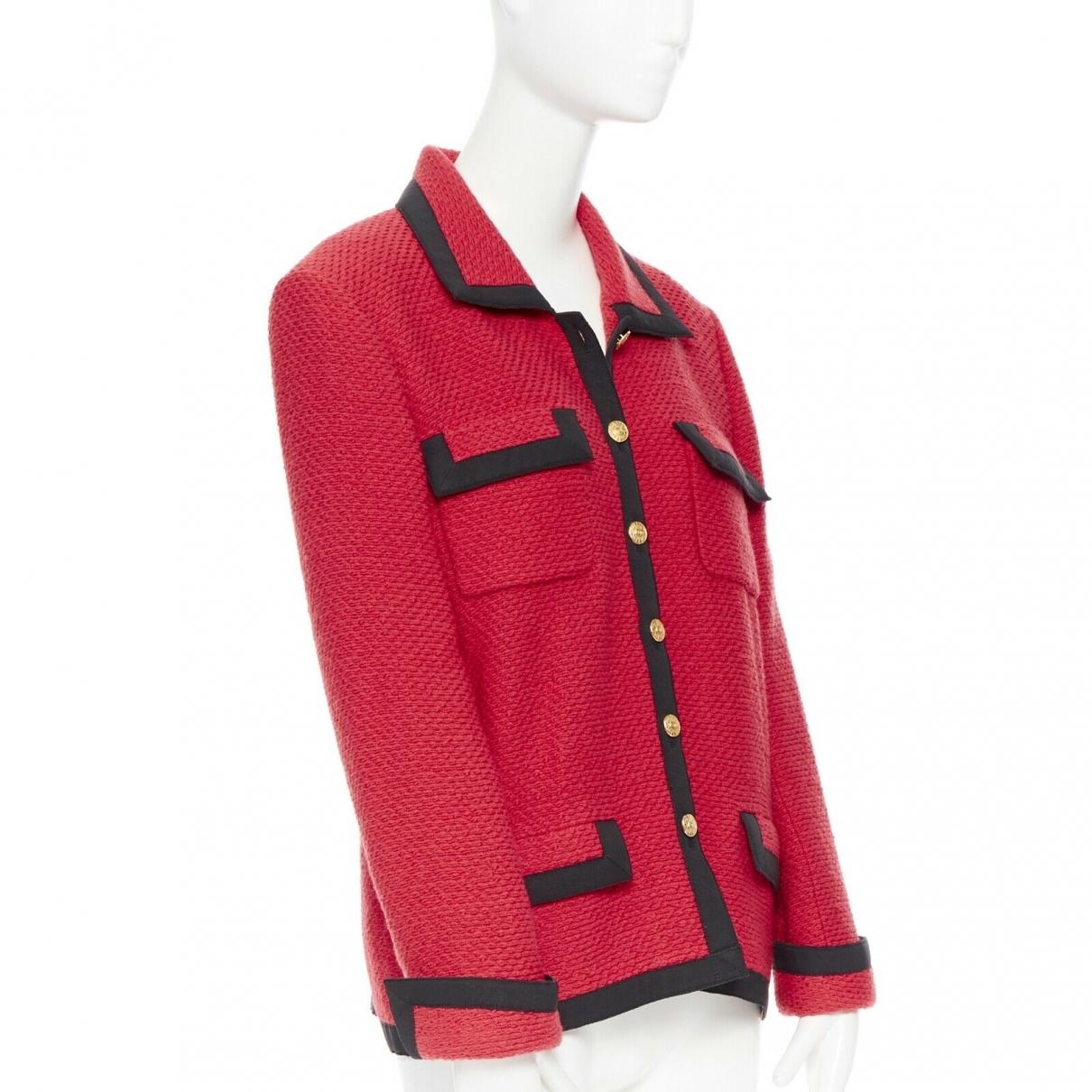 Chanel \N Jacke in  Rot Wolle