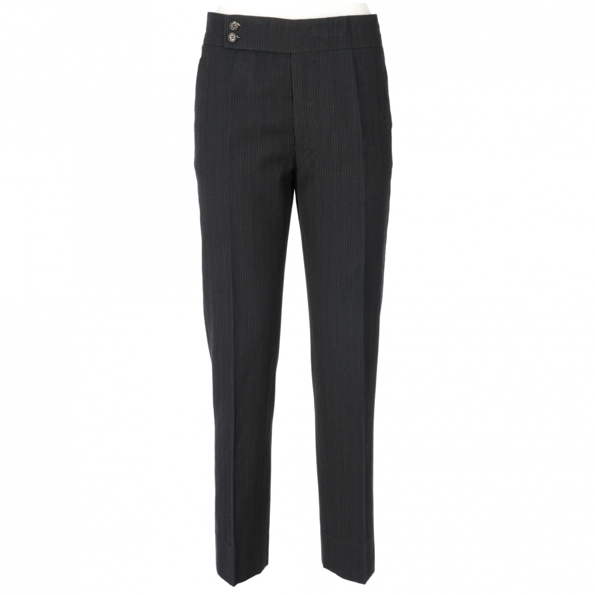 Marni \N Blue Wool Trousers for Women 40 IT