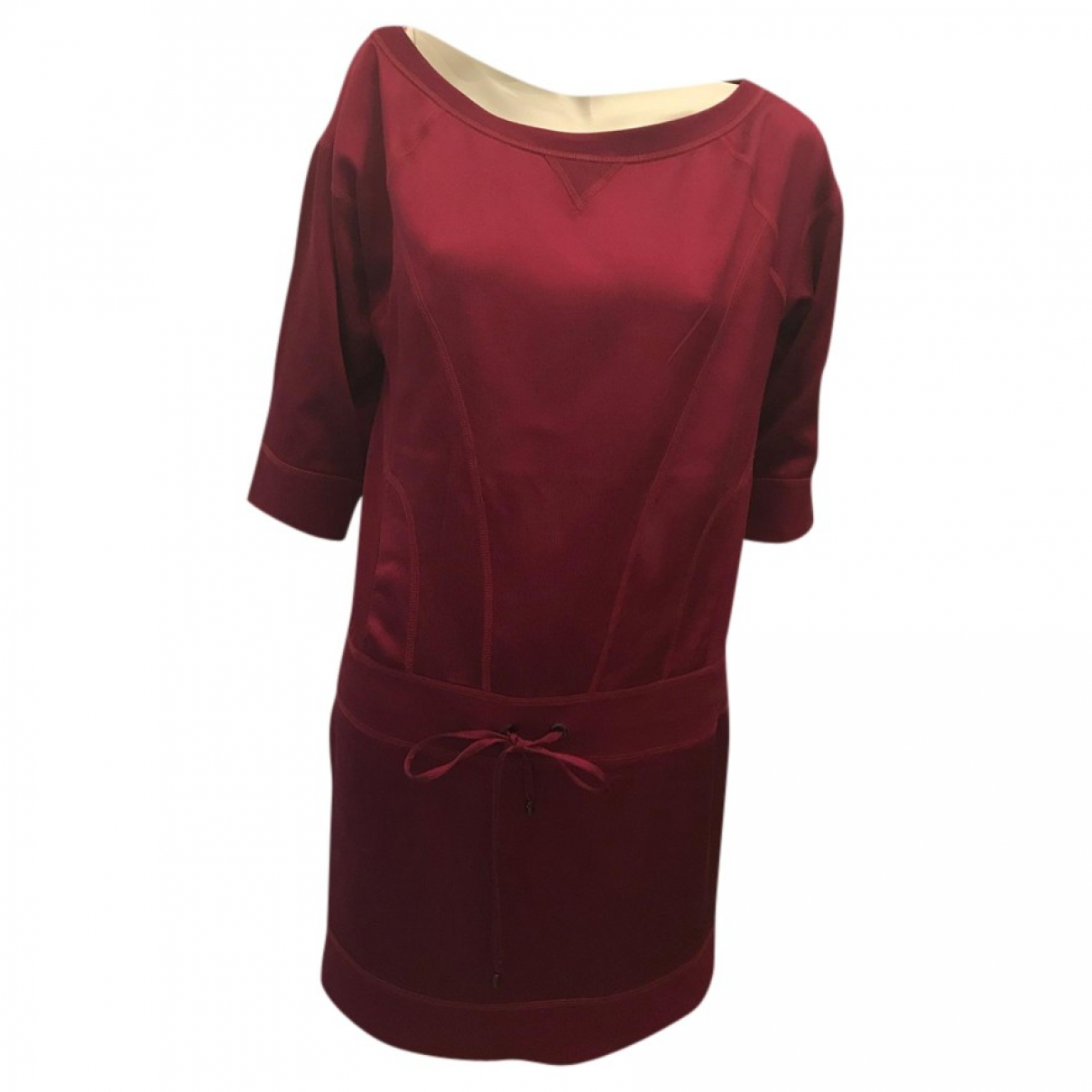 Diane Von Furstenberg \N Burgundy Silk dress for Women 40 FR