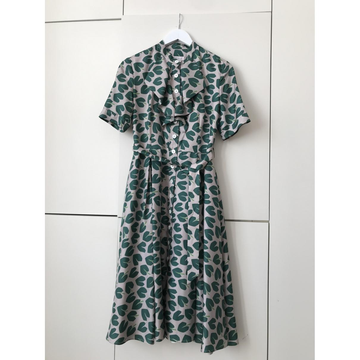 Suzannah - Robe   pour femme en soie - vert