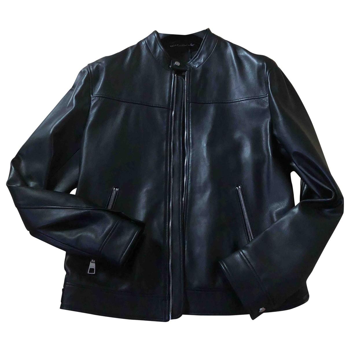 Versace \N Jacke in  Schwarz Leder