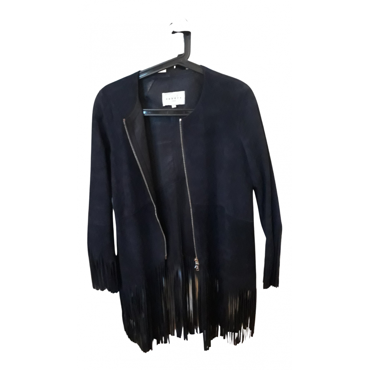 Sandro \N Navy Suede jacket for Women 1 US