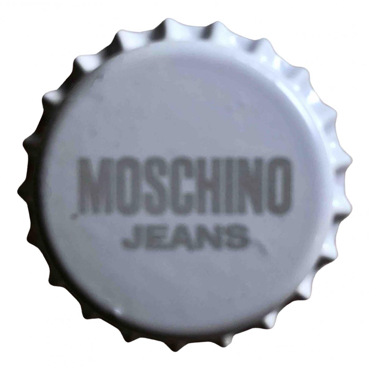 Moschino - Broche   pour femme en metal - blanc
